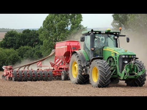 [hd] Rapssäen 2012 Mit John Deere 8r + Horsch Pronto 9dc video