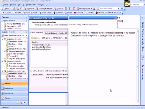 mantenimiento en microsft outlook 2007
