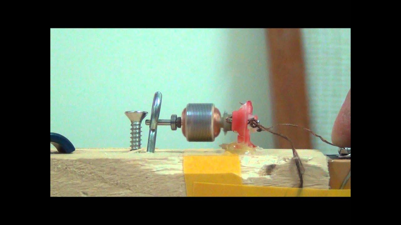 open simple motor dynamo - YouTube