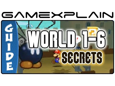 Paper Mario Sticker Star: World 1-6 Guide & Walkthrough (Puzzles & Secrets)