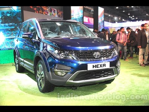 Tata Hexa Tata Motors SUV Exterior Interior at 2016 Auto Expo