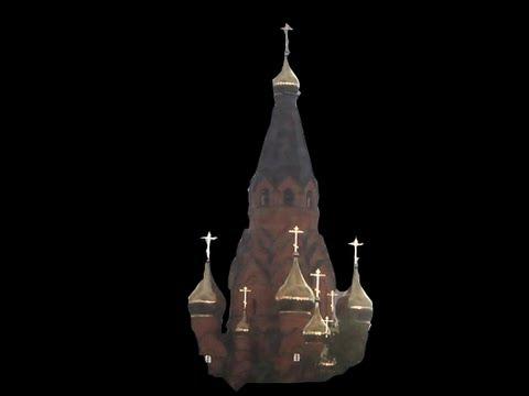 Золотые кресты Лесосибирск купола с крестами на крестовоздвиженском соборе сентябрь 2013 год