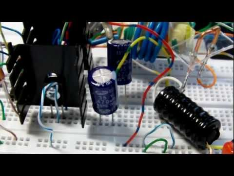 Mini kapanadze circuit - 25W 230V AC - first test