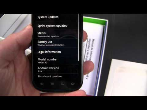 Google Nexus S 4G Unboxing