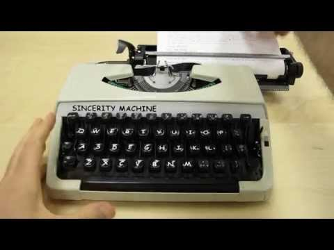 Sincerity Machine: The Comic Sans typewriter