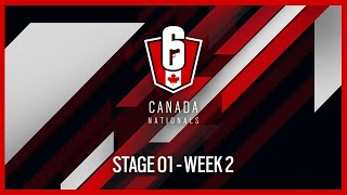 Rainbow Six Siege: LIVESTREAM Canada Nationals - Year Two | Stage 1 - Week 2 | Ubisoft [NA]