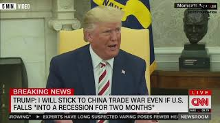 "Trump Says ""Somebody Had To Take On China"""