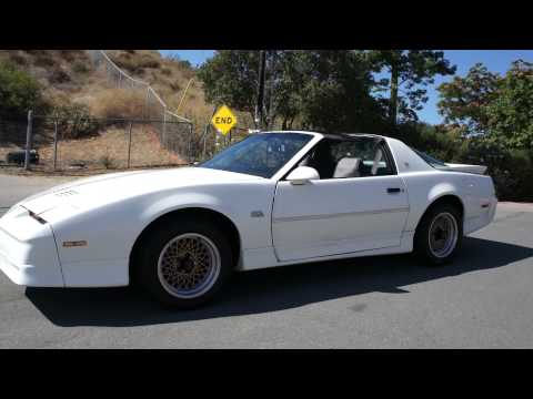 1989 Pontiac GTA Trans Am 350 T-Top TPI Upgrded Edelbrock Dynamax