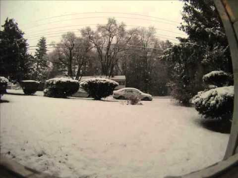March 6, 2013 snow storm Washington DC time lapse
