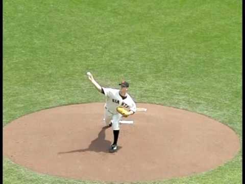RHP Matt Cain pitching mechanics