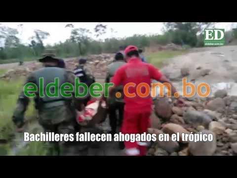 Ocho estudiantes mueren ahogados en el trópico de Cochabamba