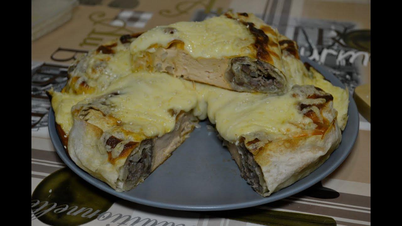 Пирог с фаршем в духовке рецепт пошагово