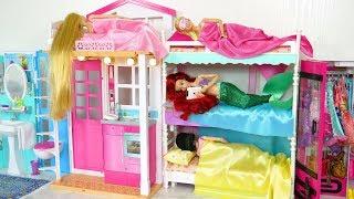Princess Barbie House Morning Routine New Dress up باربي بيت الدمية Casa de boneca Barbie