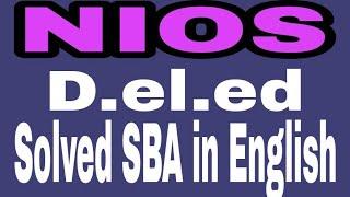 Nios D.el.ed SBA solved in English 13.82 MB
