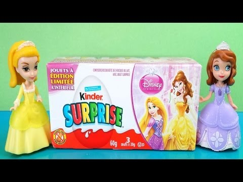 LIMITED Edition Disney Princess Kinder surprise eggs Unboxing, Belle, Aurora, Jasmine, others