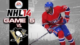 Let's PLay NHL 14 - Game 5 vs Pittsburgh Penguins - Goal Fest!
