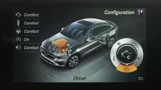 Mercedes-Benz GLC 350 d 4MATIC Coupe - Interior Design in Red Metallic Trailer   AutoMotoTV