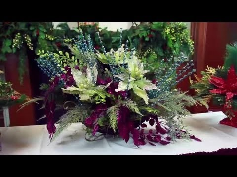 Artificial Christmas Flower Arrangements Decorating For