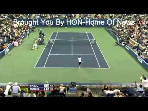 Roger Federer Shot Between Legs US Open 2010