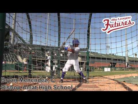 Bryan Menendez, C, Bishop Amat High School, Batting Practice at the @acbaseballgames tryouts
