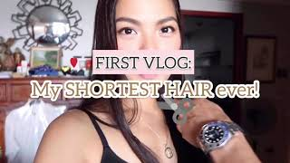 [VLOG #1] FIRST VLOG: MY SHORTEST HAIR EVER!! • Joselle Alandy