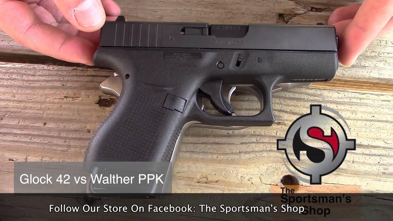 glock 42 comparison walther ppks sampw bodyguard ruger