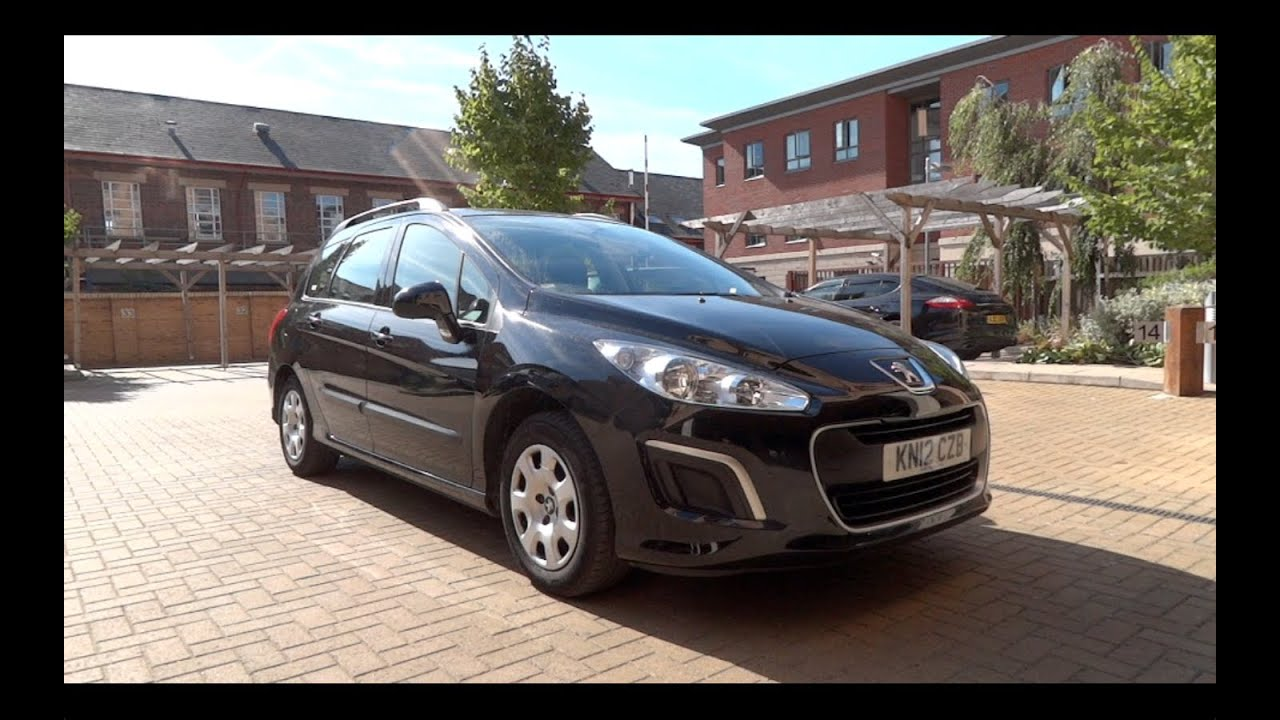 2012 peugeot 308 sw 1 6 hdi 92 access start up and full vehicle tour youtube. Black Bedroom Furniture Sets. Home Design Ideas