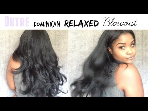 $17 Outre Dominican Blowout Relaxed half wig   Review + BLENDING Method