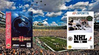 Mortal Kombat II - NHL 94 - Sega Genesis - Edge VR Arcade - Green Bay, WI