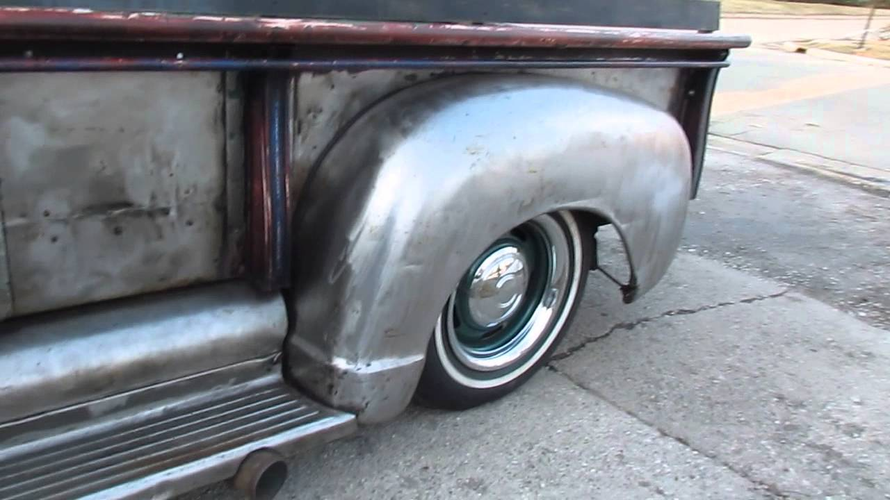1953 gmc rat rod bare metal truck - YouTube