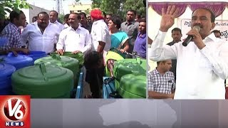 Etela Rajender and Gangula Kamalakar Participates in Smart-Green-Clean Karimnagar Program
