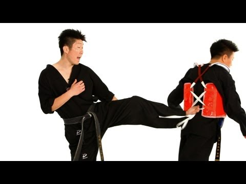 Taekwondo Sparring: Defense against Back Kick 2 | Taekwondo Training Image 1