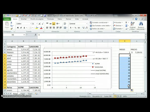Analisis grafico excel diagrama de dispersion. Ejemplo