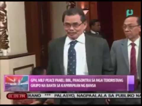 GPH, MILF Peace Panel: BBL, pangontra sa mga teroristang grupo na banta sa kapayapaan sa bansa