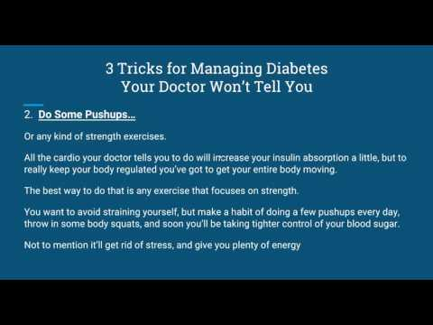 Diabetes News   3 Tricks for Managing Diabetes Your Doctor Won't Tell You
