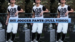 DIY JOGGER PANTS (UP-CYCLING)