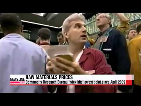 International raw materials prices drop to lowest level since April 2009   국제 원자