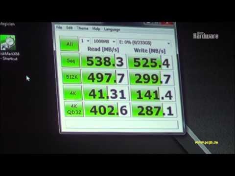 Samsung SSD 840 Evo: Benchmark mit Crystal Diskmark