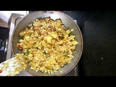 saggubiyyam upma from Mani's kitchen