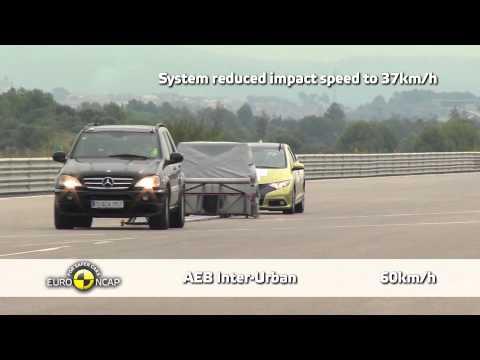 Honda Civic - Euro NCAP 2013, тест системы автоматического торможения