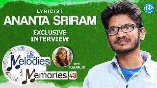 Lyricist Ananta Sriram Exclusive Interview    Memories & Melodies #3