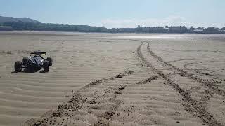 RC buggy on the beach fail