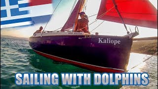 CAPE CUTTER SAILING WITH DOLPHINS - Vlog 220