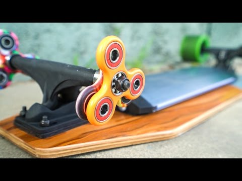 FIDGET SPINNERS WHEELS VS ELECTRIC SKATEBOARD!!!