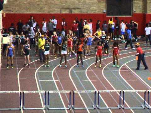 U.C.I.A.C.,Champ.,1-24-2014,Benedictine Academy,55 Meter Hurdles,Trials,(2nd)Kay-8.83,(3rd)Ram. 8.87