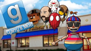 Gmod Hide and Seek - Balloon Mod at Freddy Fazbear's! (Garry's Mod Funny Moments)