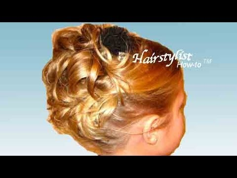 Up Do Hairstyle Hair Tutorial High Up In Curls YouTube