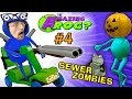 SEWER ZOMBIES vs. SHOTGUN BLAST!  AMAZING FROG HALLOWEEN Part...