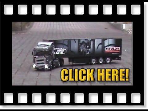 Tamiya Scania R 620 RC tractor truck&Carson FULDA semi-trailer