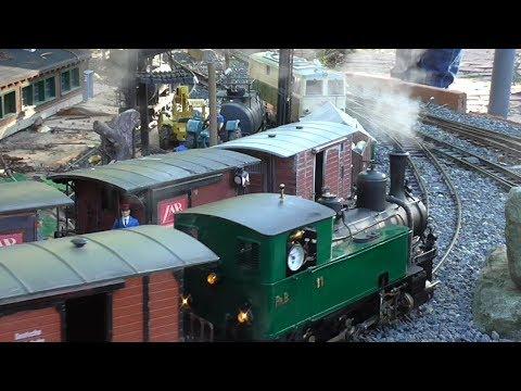 Fahrtage im Sommer (2) Echtdampf im Garten, LGB, Akkubetrieb, live steam, battery powered